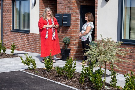 Climate Change Minister with Rhiw Cefn Gwlad resident Penny Hoey