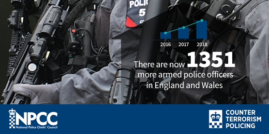 Armed policing numbers boosted with more specially trained officers: 17052018 Armed Police Increase