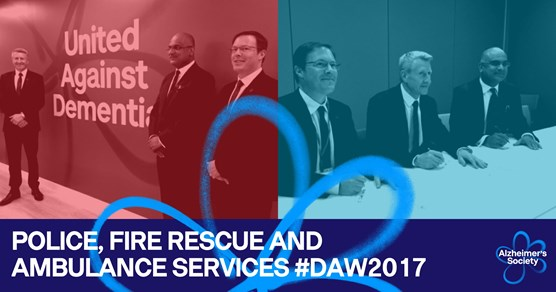 Emergency services unite to be dementia friendly for Dementia Awareness Week: police, fire rescue and ambulance services #DAW2017 (2)