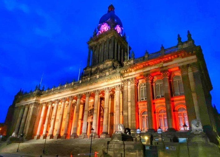 Leeds Town Hall celebrates #GoOrange