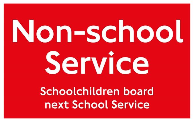 Non-school Service Sign