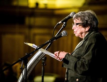 Hana Kleiner speaks at Holocaust Memorial Day 2020: Holocaust survivor Hana Kleiner speaks at Holocaust Memorial Day 2020