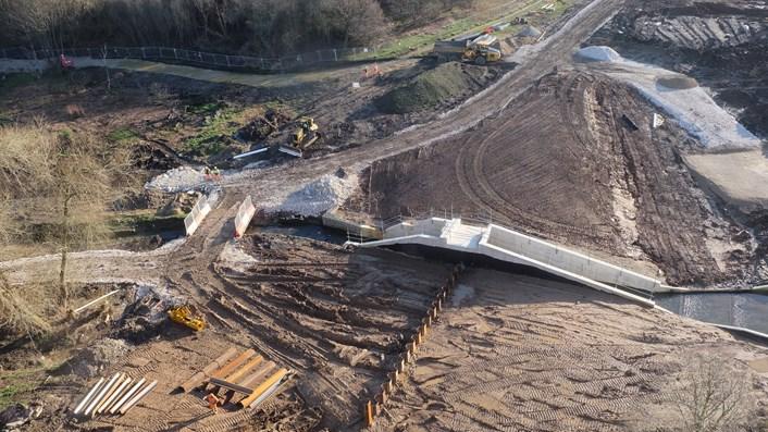 Construction progress - Sheet piles (March 2020)
