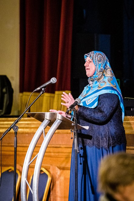 Mevlida Lazibi speaks at Holocaust Memorial Day 2020: Bosnian Genocide survivor Mevlida Lazibi speaks at Islington Council's 2020 Holocaust Memorial Day event.