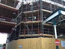 Wigan Wallgate complex scaffolding