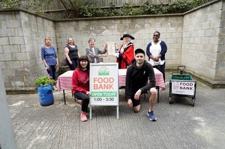 Copenhagen Street Food Bank team: The Copenhagen Street Food Bank team receiving their Civic Award from Islington Mayor Cllr Janet Burgess