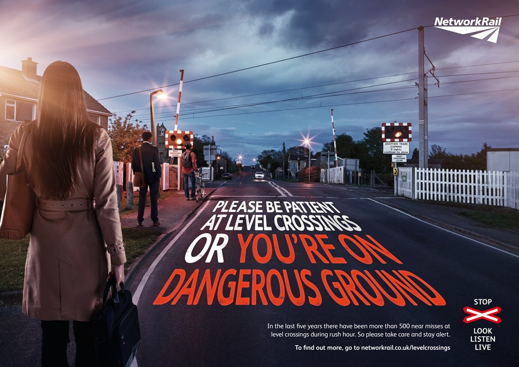 Safety plea to pedestrians after shocking near miss in Birkdale, Merseyside: Commuters LX safety campaign poster