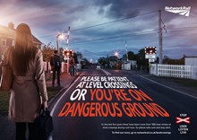 Commuters LX safety campaign poster: Level crossing safety awareness campaign. Commuters