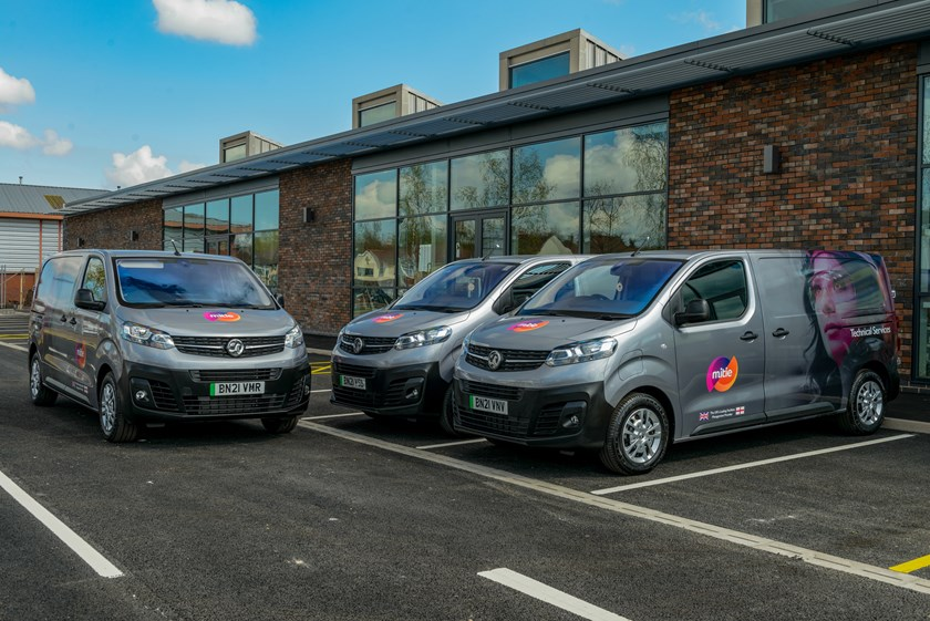Mitie's first zero emission large van