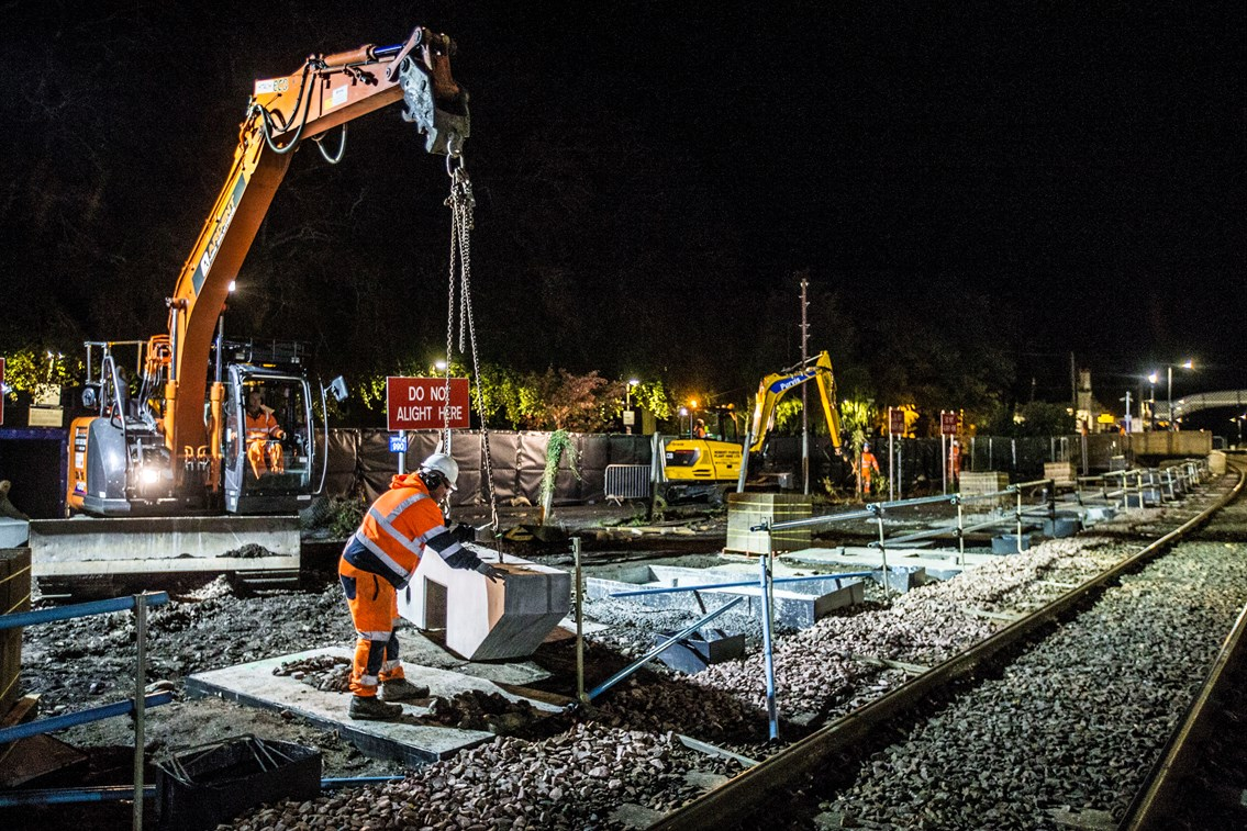 Vital upgrade work for Highland main line: PitlochryNight2 14
