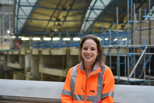 Network Rail project manager advises passengers to check before they travel this Christmas: Maggie Eddy, project manager at Network Rail, will be working over the Christmas weekend to deliver upgrades at Waterloo station