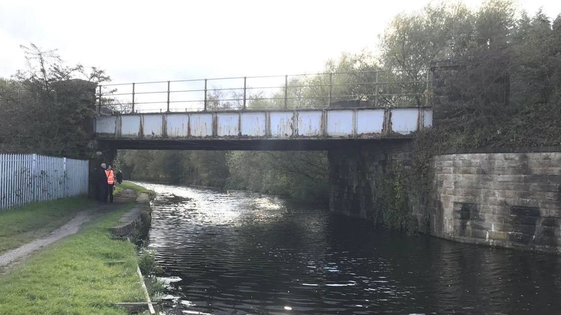 Historic canal's industrial past resurrected to help deliver railway for the future: Oswaldtwistle bridge-2
