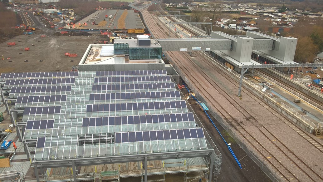 Anglia runs on rail: New figures show the full extent of the rail industry's contribution to the East of England: Cambridge North aerial shot