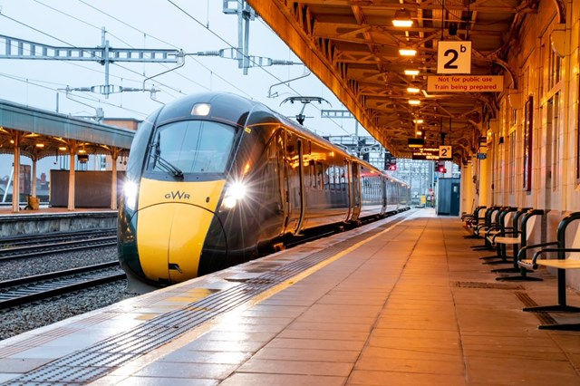 Severn Tunnel 5 - First train to Cardiff