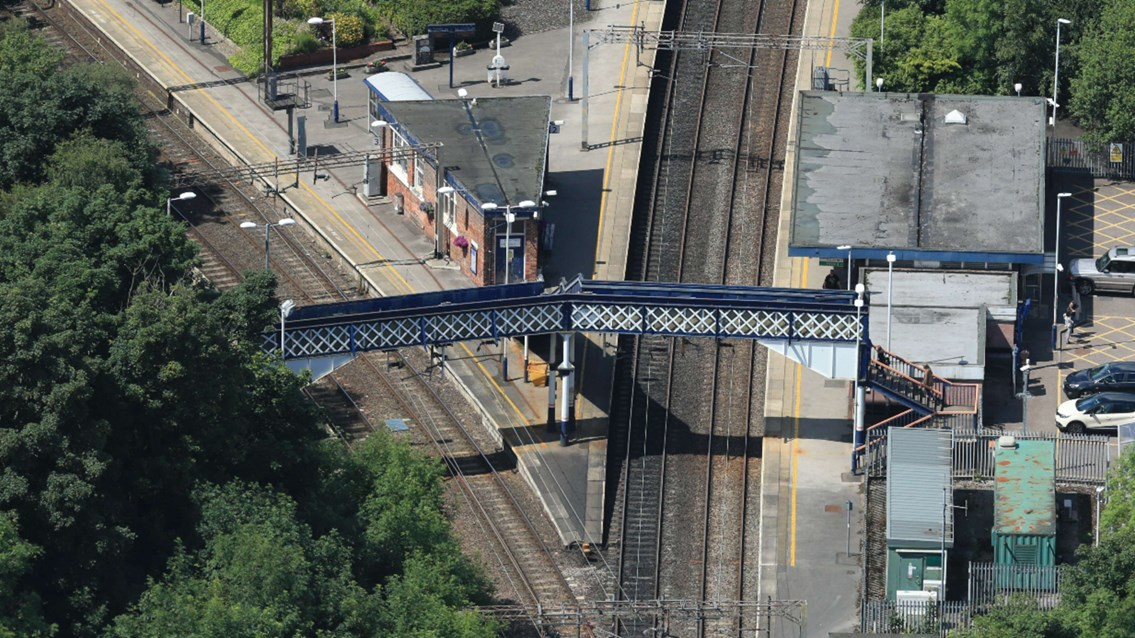 Firm footing to make Kidsgrove station accessible for everyone: Kidsgrove Aerial view 1
