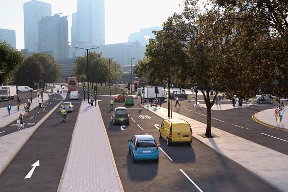 TfL Image - West India Dock Road