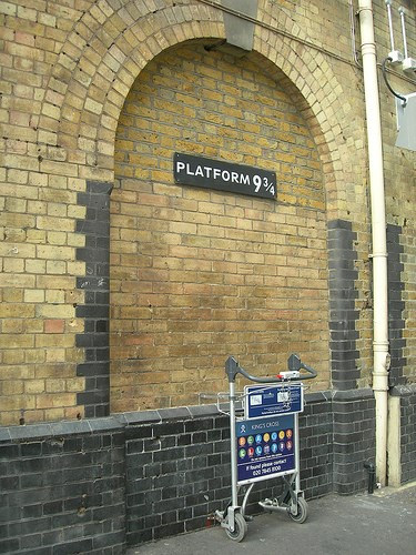 Platform Nine & Three-quarters: The famous Kings Cross platform nine and three-quarters where boy wizard Harry Potter and his school friends board the Hogwarts Express.