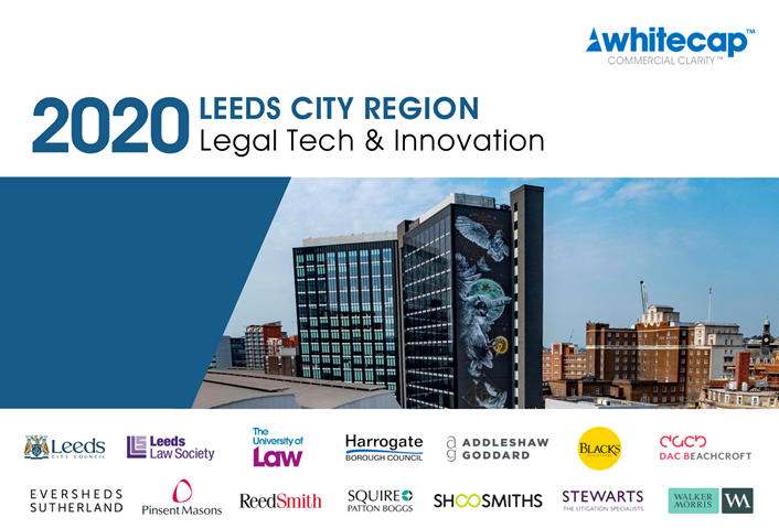 Legal Tech Report Cover: Leeds City Region can become a major hub for Legal Tech & Innovation, says new report by Whitecap Consulting.