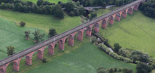 Network Rail starts work on £17m investment in Cheshire bridges and viaduct: Holmes Chapel Aerial view