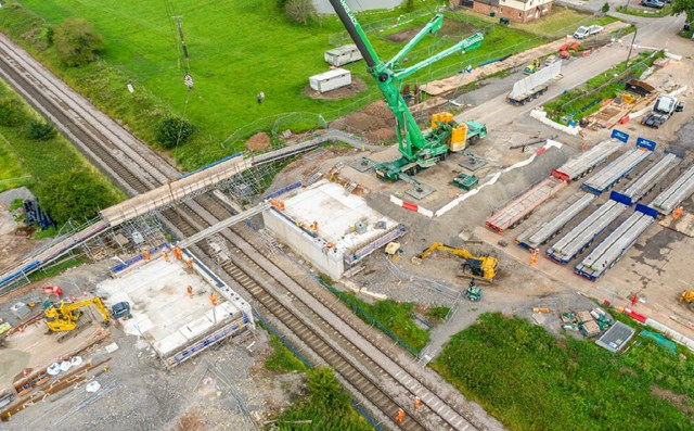 Aerial view of the Boulderstones bridge renewal project