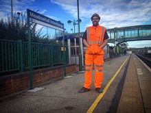 Jamie Morgan, a mobile operations manager for Network Rail.