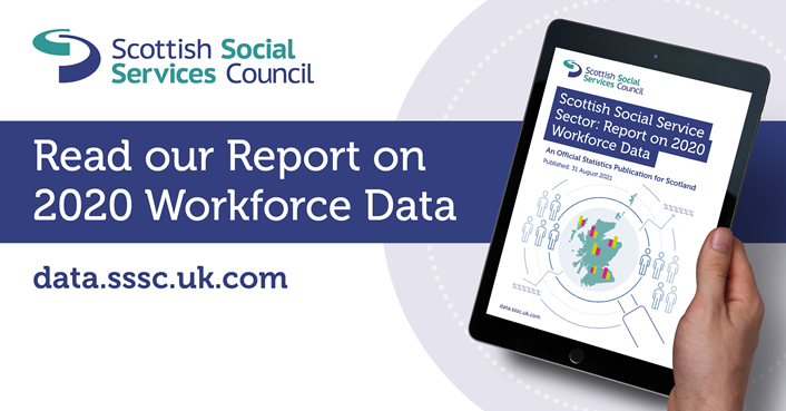 2020 Workforce Data report (image): 2020 Workforce Data report being read on a tablet device