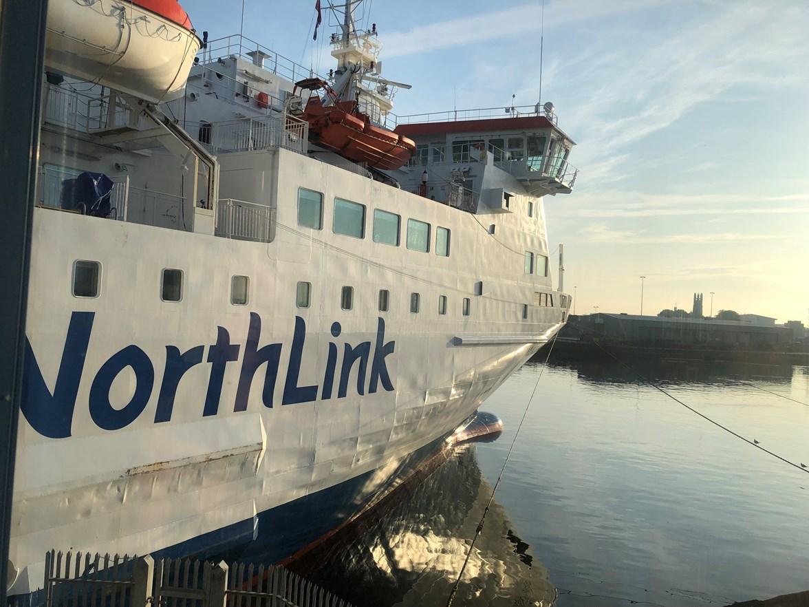 Northlink ferry, Aberdeen harbour