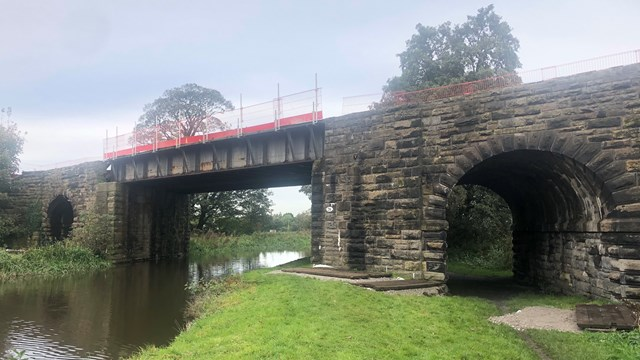 Five-day railway closure for bridge overhaul between Southport and Wigan in one month: The bridge over the Leeds Liverpool Canal at Burscough