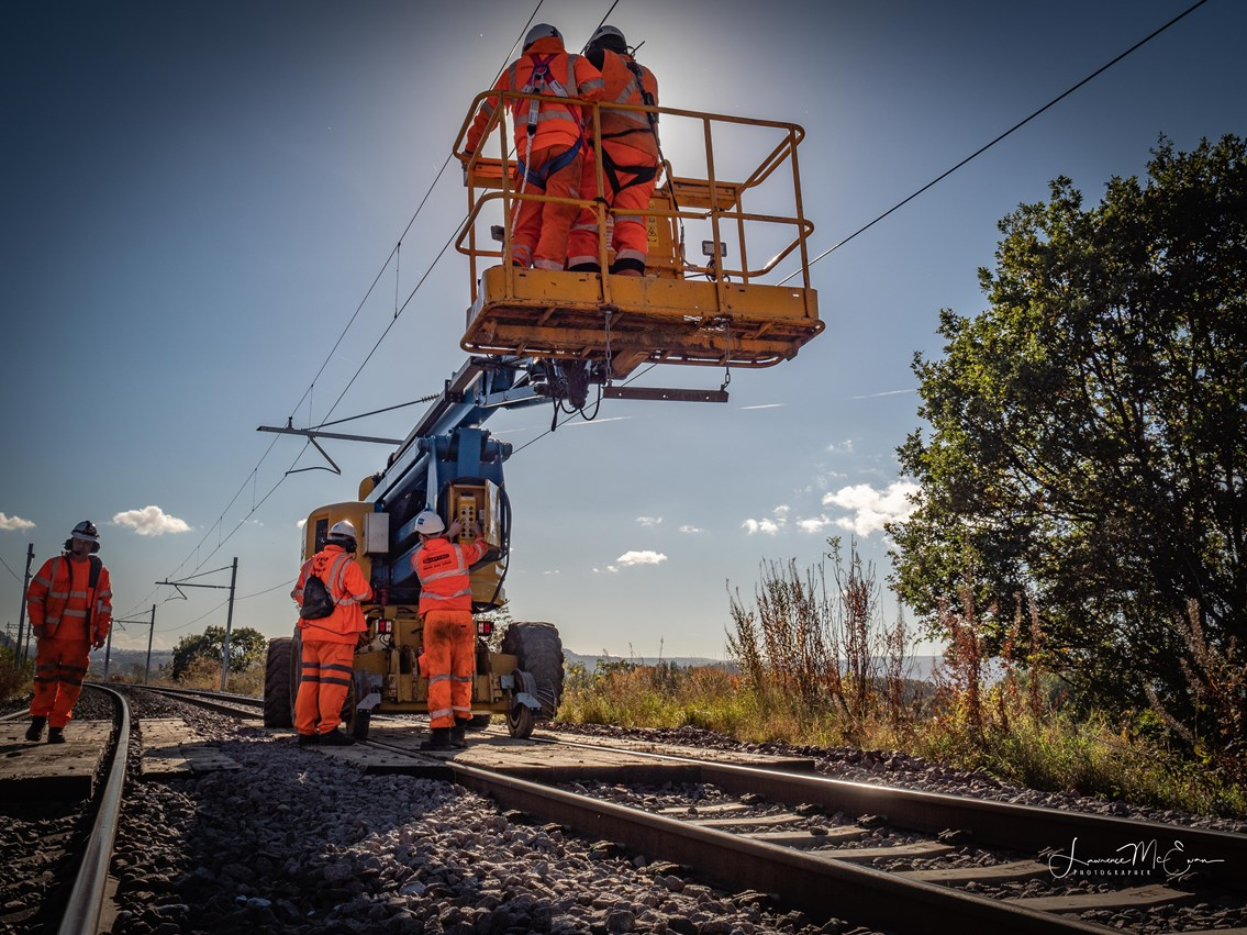 Stirling-Dunblane-Alloa electrification goes live: PA150014-2