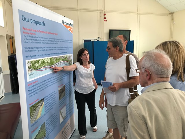 Extra consultation event added as Network Rail shares updated plans to protect vital railway artery to the south west: Parsons Tunnel to Teignmouth Torquay consultation event July 2019