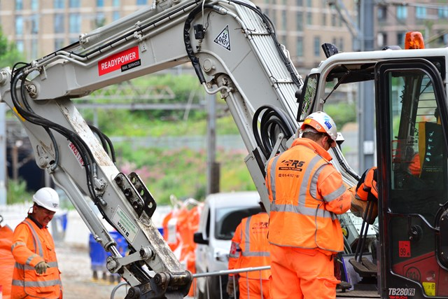 work taking place behind the scenes at King's Cross