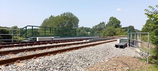 Track on upgraded Manton bridge