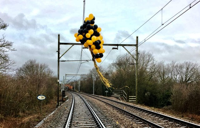 Rise in helium balloon train delays prompt safety warning: Balloons wrapped around overhead electric lines Southend February 2018