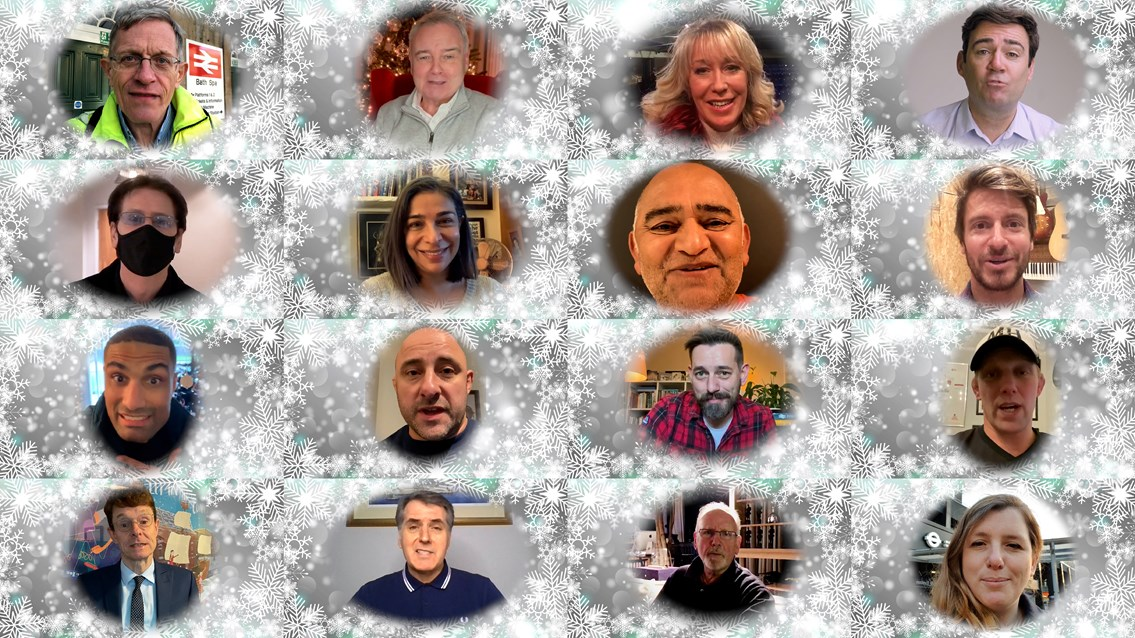 Christmas celebrity thank you composite