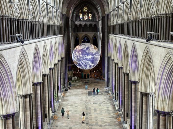 Gaia at Salisbury Cathedral, 2019 (2): Credit Luke Jerram