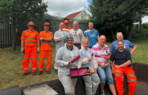A team of Network Rail directors and staff dedicated over 90 hours of volunteer leave to decorate a Scout Hall in Rumney, Cardiff