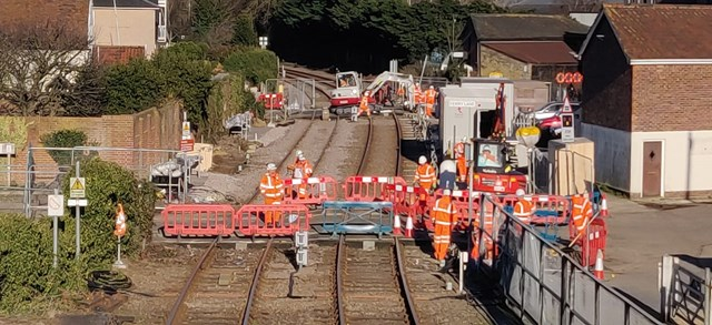 Woodbridge level crossing upgrades work 3