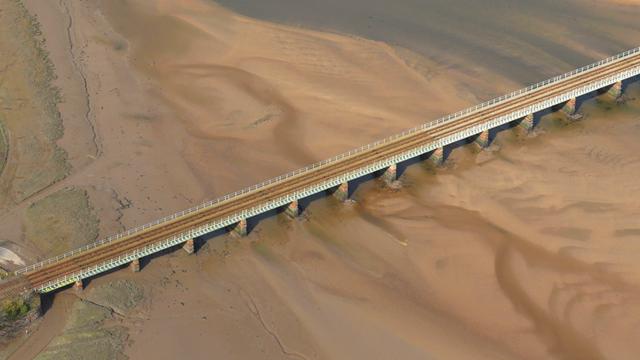 Eskmeals viaduct - aerial (1)