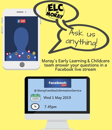 Want to know more about early learning and childcare in Moray? We can help: Want to know more about early learning and childcare in Moray? We can help
