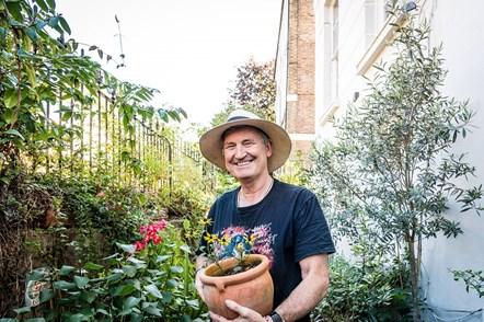 Garry McQuinn (pictured) won the Best Front Garden prize in Islington in Bloom 2021