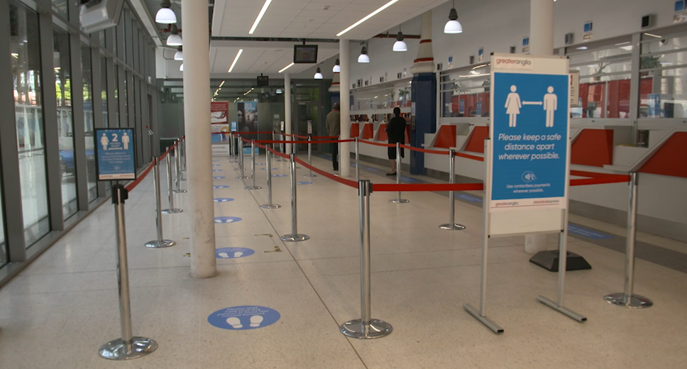 Social Distancing - Liverpool St Station - Ticket Office