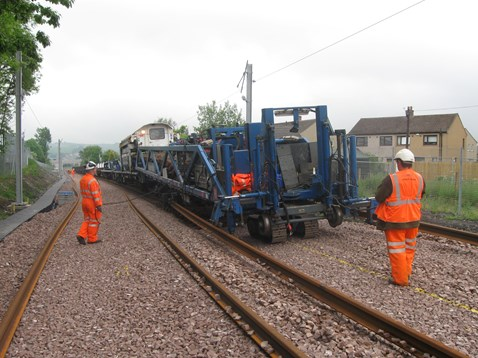 Track laying machine working on Airdrie-Bathgate line_2