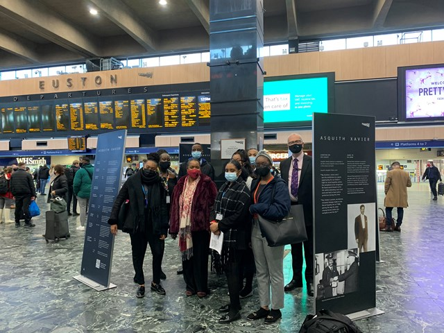 Maria Fidellis High School pupils at London Euston's Asquith Xavier exhibition (002)