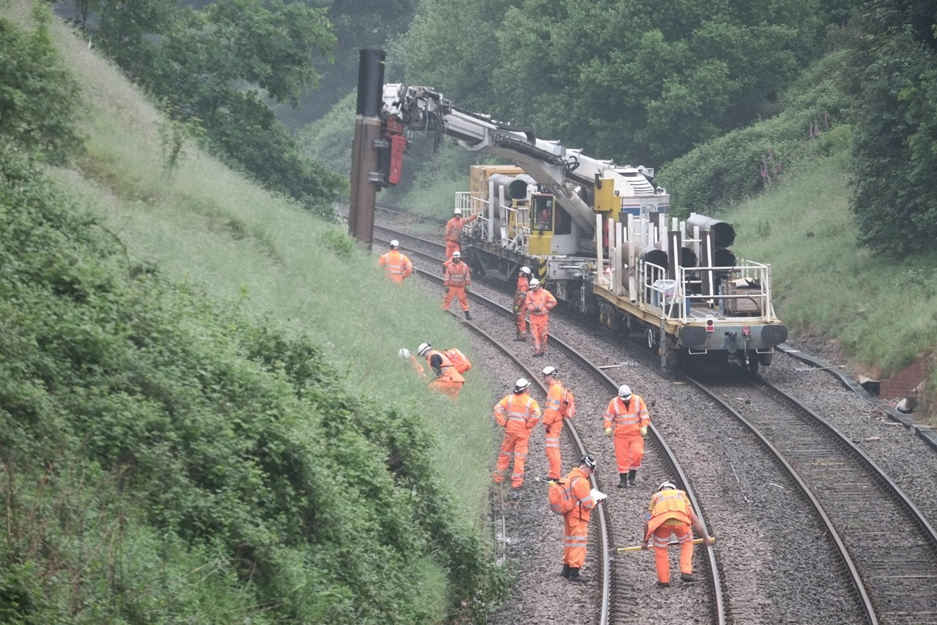 'Stay off the railway' warning as Walsall to Rugeley line is electrified: Chase line electrification - laying the foundations