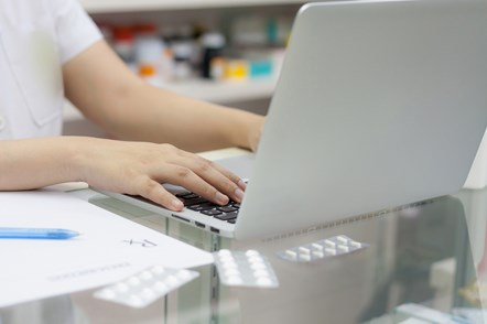 PQS: One day left to claim for your Aspiration payment: iStock-539010678 (pharmacist laptop)