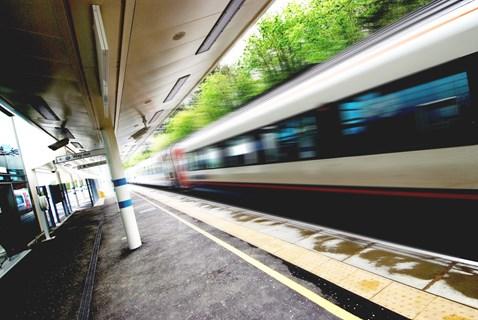 Train through station