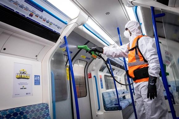 TfL Image - Cleaning regime on the Tube 2