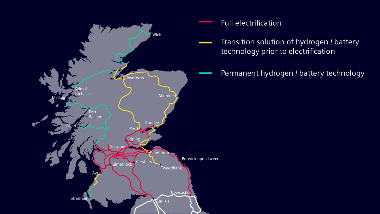 Siemens Mobility asks Scotland to go further and faster to meet decarbonisation targets: Scotland routes