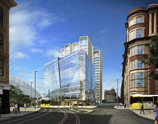 Rail boss calls for business to do more to fund rail improvements: Example of a planned housing development in Manchester (artist's impression)
