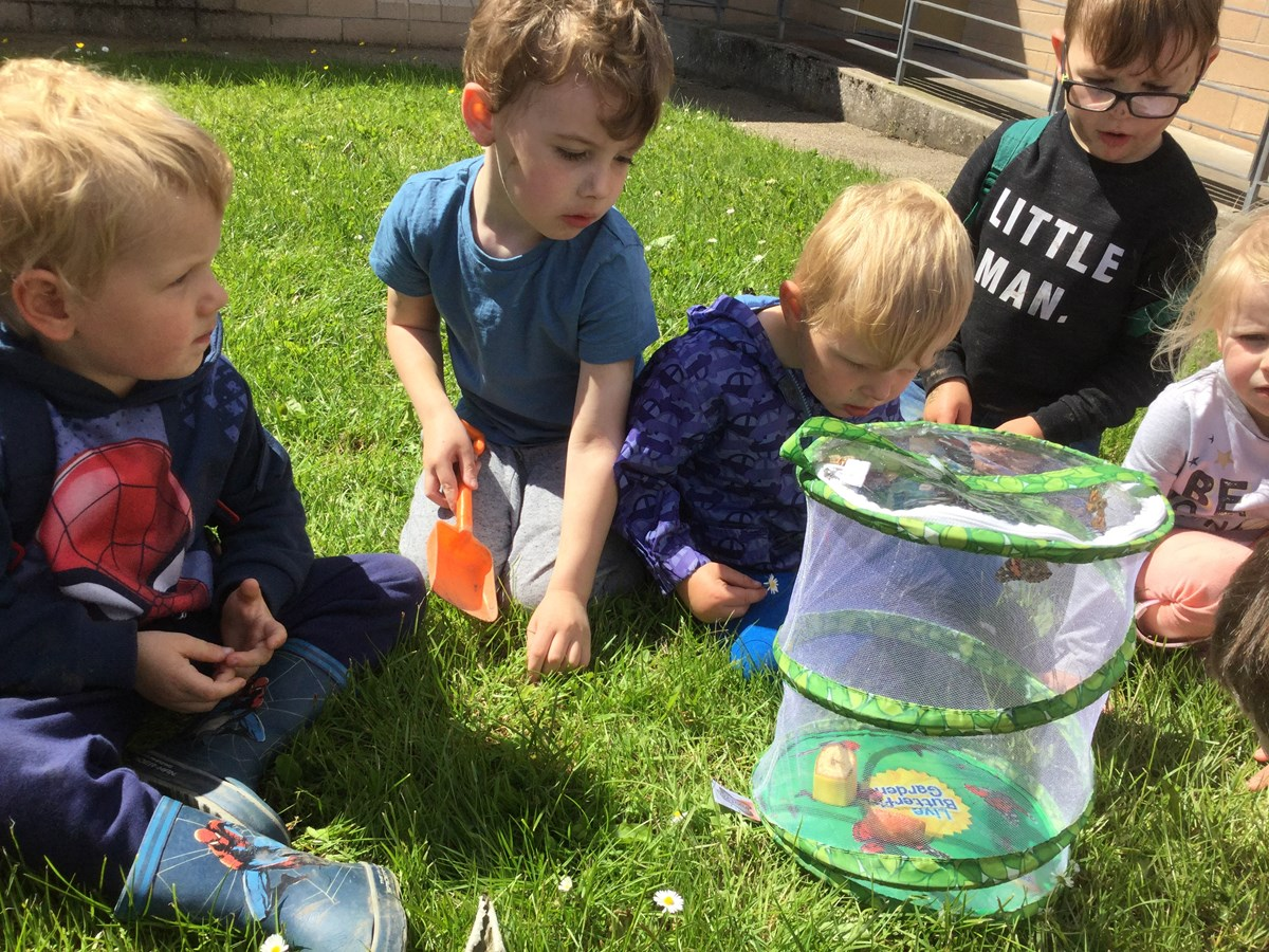 Lhanbryde nursery outdoors: Children learning outdoors in ELC setting